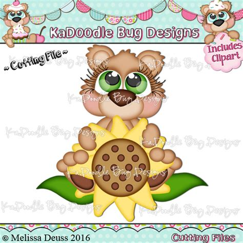 ka doodlebug designs cutie katoodles sunflower cutie 0 75 kadoodle bug