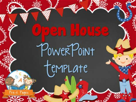 western theme open house powerpoint pre k pages