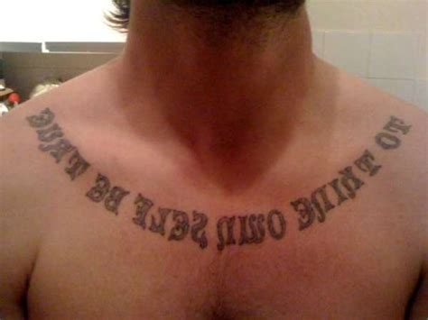 true image tattoo to thine own self be true mirror image