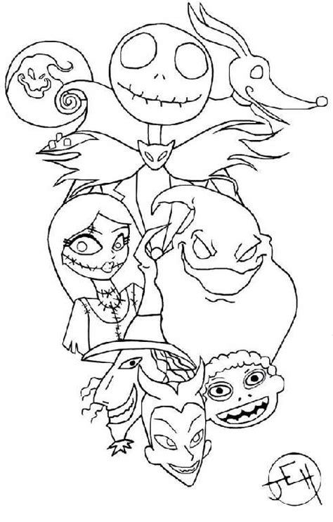 Nightmare Before Characters Coloring Pages Nightmare Before Christmas Coloring Pages by Nightmare Before Characters Coloring Pages