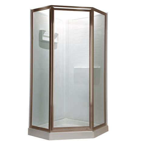 24 Glass Shower Door American Standard Prestige 24 25 In X 68 5 In Neo Angle Shower Door In Brushed Nickel With