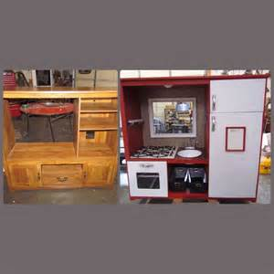 play kitchen from old furniture entertainment center turned play kitchen www tararize