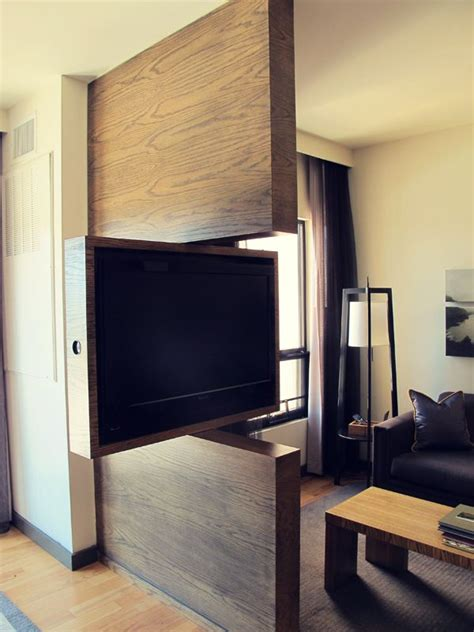 Tv Room Divider Tv Swivel Concepts Practical And For Modern Homes