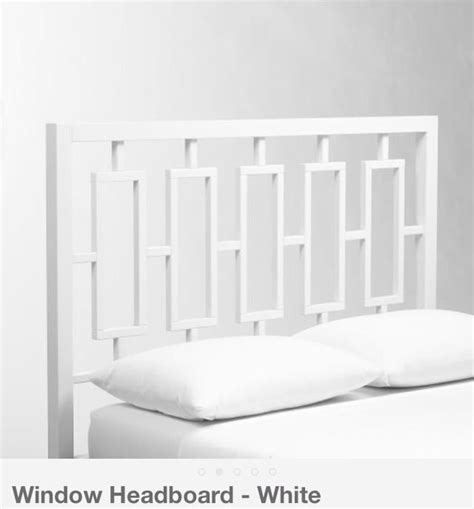 west elm white headboard west elm window headboard window dressing the airy