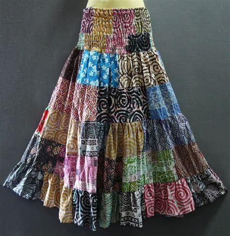 Patchwork Hippie Skirts - hippie boho patchwork strapless dress skirt