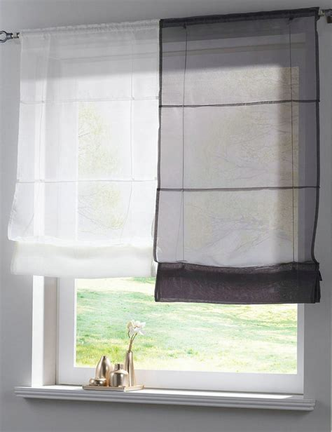 roman blinds with net curtains roman blinds with voile curtains curtain menzilperde net