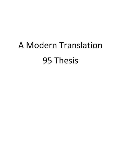 thesis about translation pdf 95 theses modern translation by kenneth nance issuu
