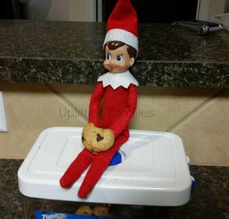 Ate On The Shelf by Rascal Enjoys A Chocolate Chip Cookie Elfontheshelf