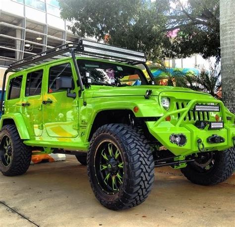 Green Four Door Jeep Lime Green 4 Door Jeep Jk For The Family And Of Course