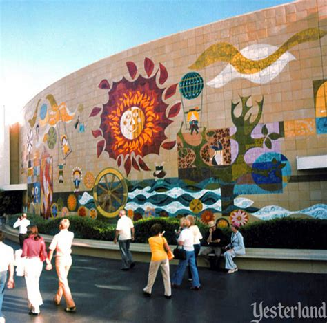 Ceramic Wall Murals mary blair tile murals at yesterland