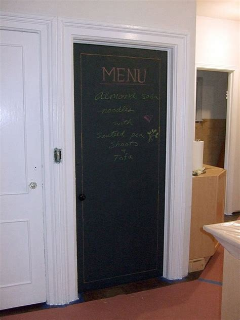 Pantry Chalkboard by Chalkboard Pantry Door For The Home