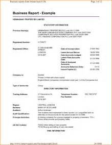 Company Report Sample 7 Format Of Business Report Rent Roll Template