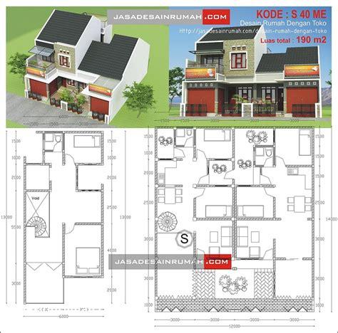 desain dan layout toko ritel 100 contoh denah rumah toko paling keren terbaru design