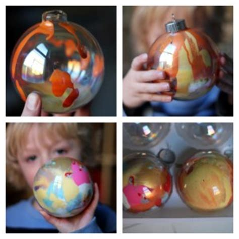 how to make paint swirled ornaments how to make swirled paint ornaments