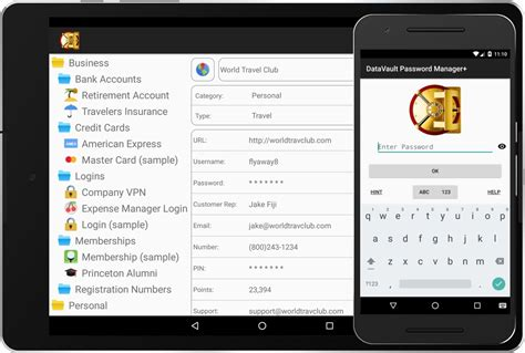 keepass template credit card datavault password manager for android datavault