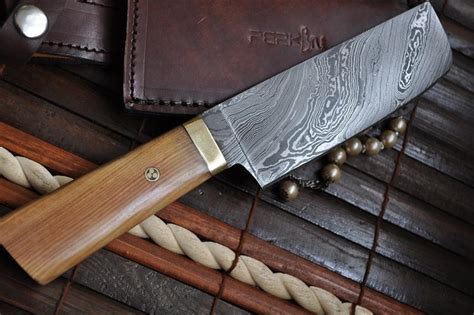 damascus kitchen knives for sale damascus chef knife with pear wood mosaic pin handle perkin knives