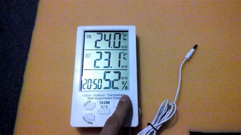 Sanfix Th303a Indoor Thermo Hygrometer обзор digital thermometer hygrometer indoor outdoor