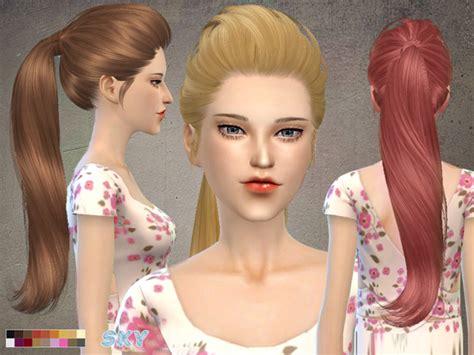 kamadora hair style the sims 4 cc hair ponytail sims 4 cc showcase