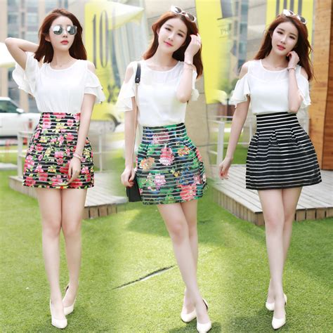 2015 time limited sale crop top and skirt set summer