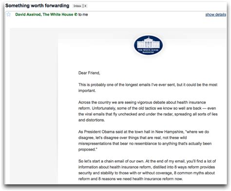 Email The White House white house spam the email zoo