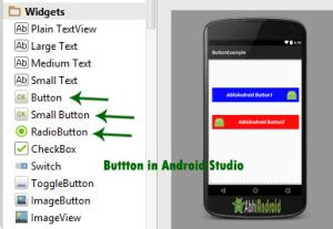 android studio button new layout button tutorial with exles in android studio