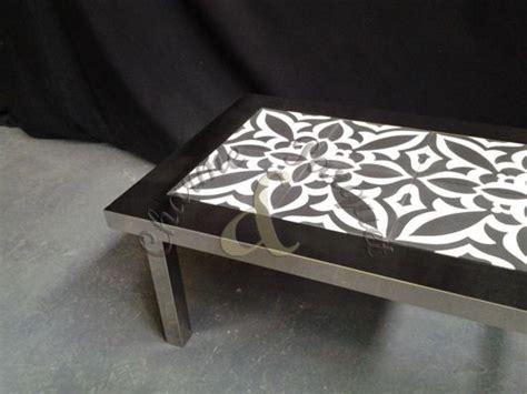 Table Basse Ciment by Table Basse En Inox Et Carreaux De Ciment Diy Tsm