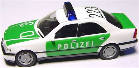 Minichs Mercedes 200 Polizei 1 87 mercedes c 200 w202 polizei d3 223 herpa 043663