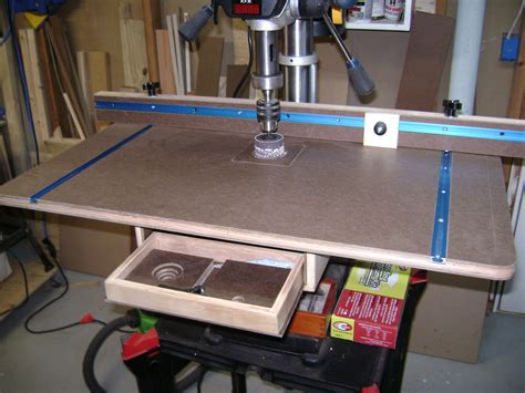 design and ideas cool drill press table and fence plans