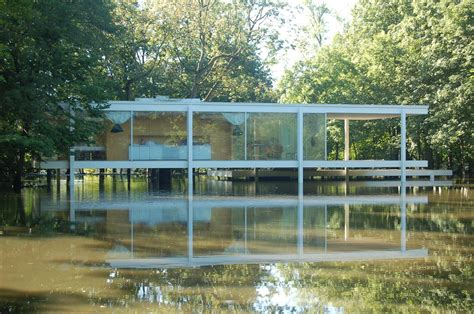 Wood Curtain by Flood Mitigation Project Farnsworth House