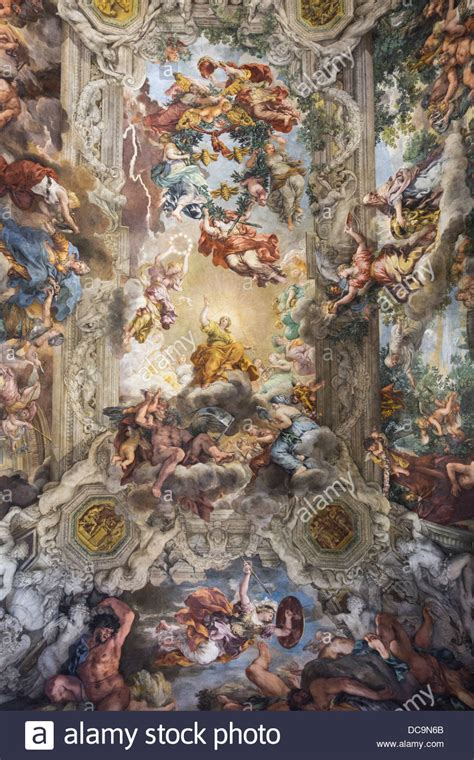 Who Began The Tradition Of Illusionistic Ceiling Painting by Illusionistic Ceiling Fresco Gran Salone Palazzo