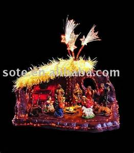 we sell 43 fiber optic nativity set wsh1043a sote