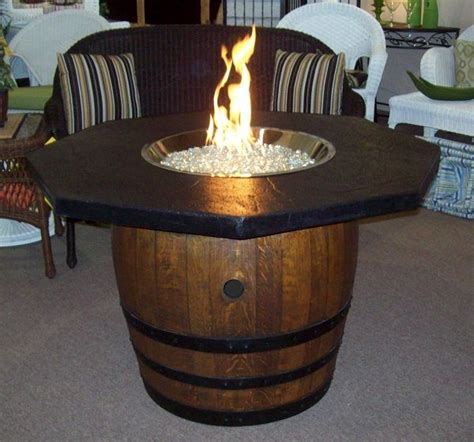 wine barrel firepit table fire pits grills outside