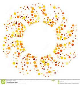 circular sun round frame border stock illustration image