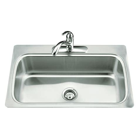 steel kitchen sink shop kohler verse stainless steel single basin drop in