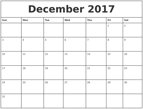 Calendar December 2017 January 2018 Excel Calendar For December 2018 And January 2018 Printable