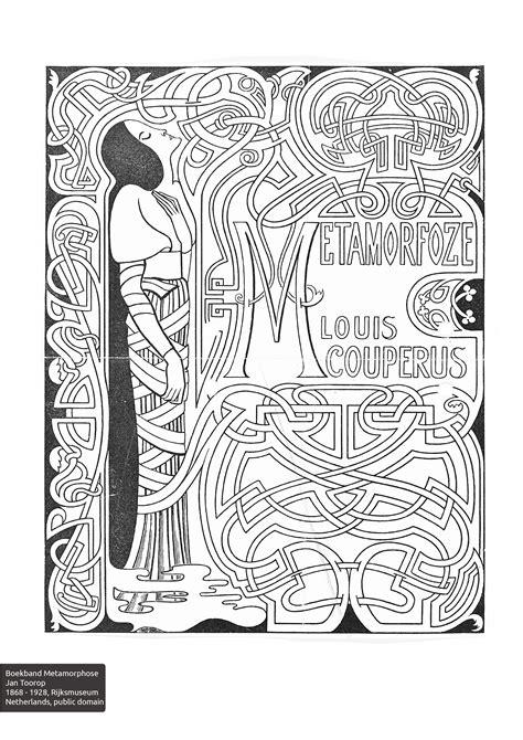 nouveau coloring book colorourcollections with an nouveau colouring book