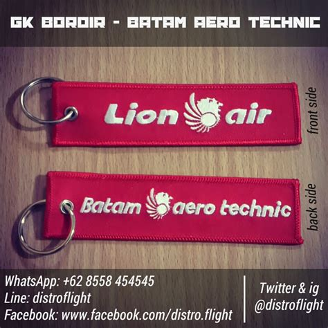 distro flight shop gantungan kunci bordir air bat
