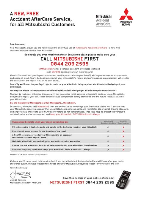 Introduction Letter To A Company As Dealer Mitsubishi Customer Letter For Dealers 1