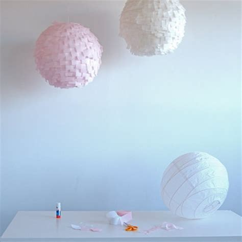 diy modern crepe paper lanterns project wedding
