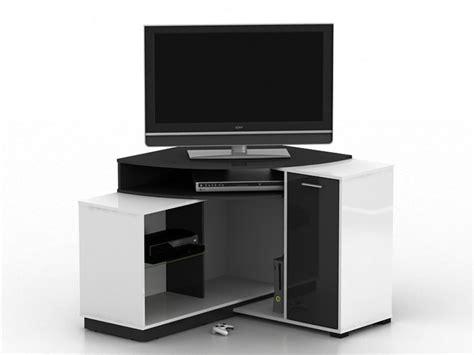 Meuble Tv Angle Blanc 1819 by Meuble Tv D Angle Amael Avec Rangements Blanc Ou Ch 234 Ne