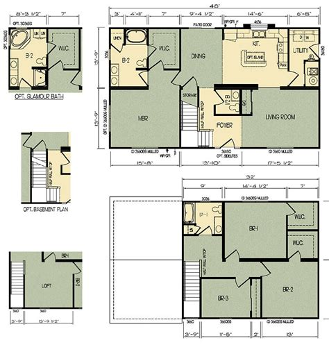 floor plan prices de bamboo complete ritz craft homes floor plans