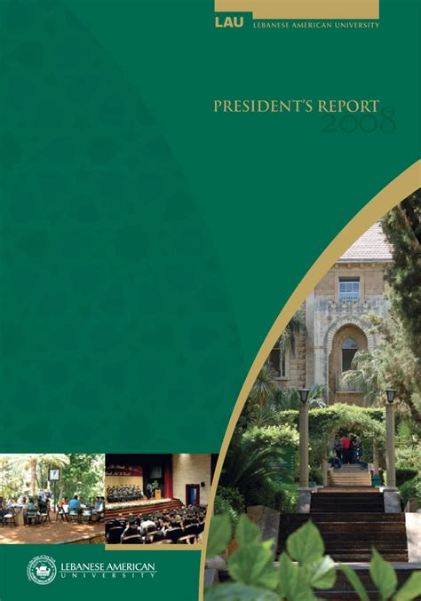 Lau Mba Admission by Lau President S Report 2008 By Lebanese American