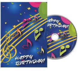 music notes birthday greeting card with matching cd china