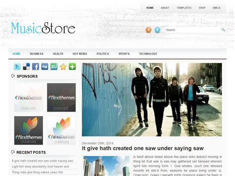 free wordpress themes music store musicstore a free general blog wordpress theme by