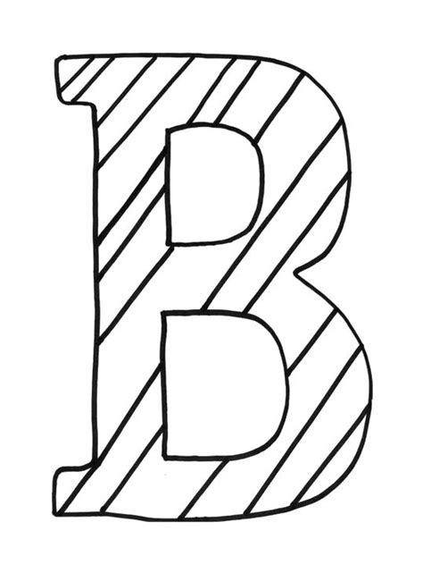 letter    nice striped coloring pages