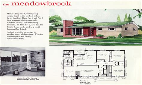 mid century home plans 1960s ranch house plans mid century ranch house plans