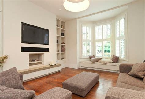 Decorating Living Room With Bay Window And Fireplace Erkerfenster Dekorieren 55 Gem 252 Tliche Ecken Mit Ausblick