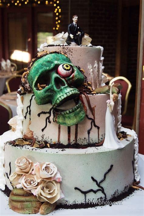 zombie skull wedding cake rockabilly amp vintage outdoor