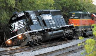 Norfolk southern train derails in south boston photo credit the