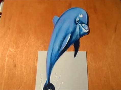 How To Make A 3d Dolphin Out Of Paper - drawing a 3d dolphin